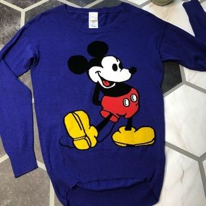 Disney Mickey Mouse knit blue sweater medium